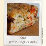Cake au poivron rouge et surimi
