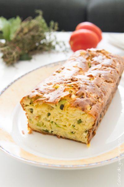 Cake vert courgette et poivron vert