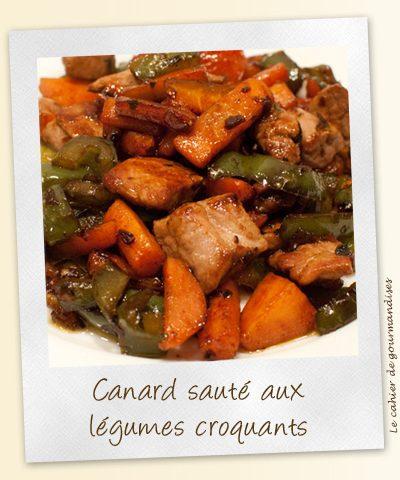 Canard sauté aux légumes croquants