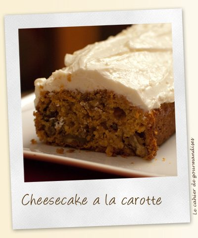 Cheese & Carrot cake