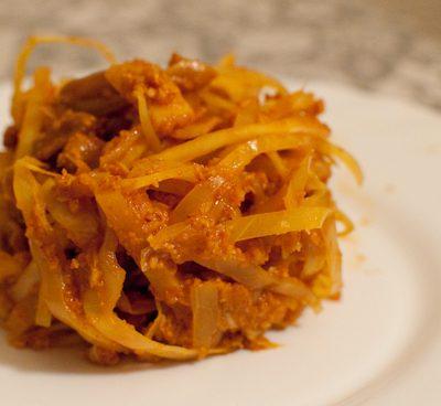Chou blanc sauce indienne
