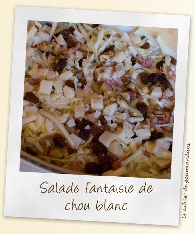 Salade fantaisie de chou blanc