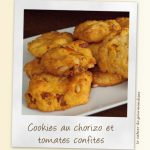 Cookies au chorizo et tomates confites