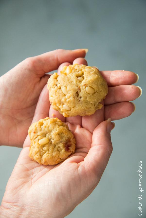 Cookies lardons et pignons | Cahier de gourmandises