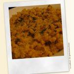 Coquillettes façon risotto au chorizo, courgettes et ricotta