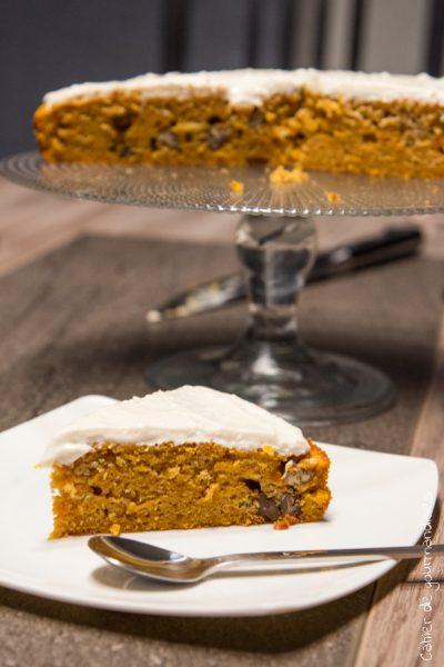 Courge Cake aux noix de pécan