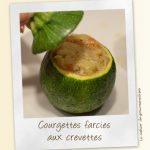 Courgettes farcies aux crevettes  sauce curry