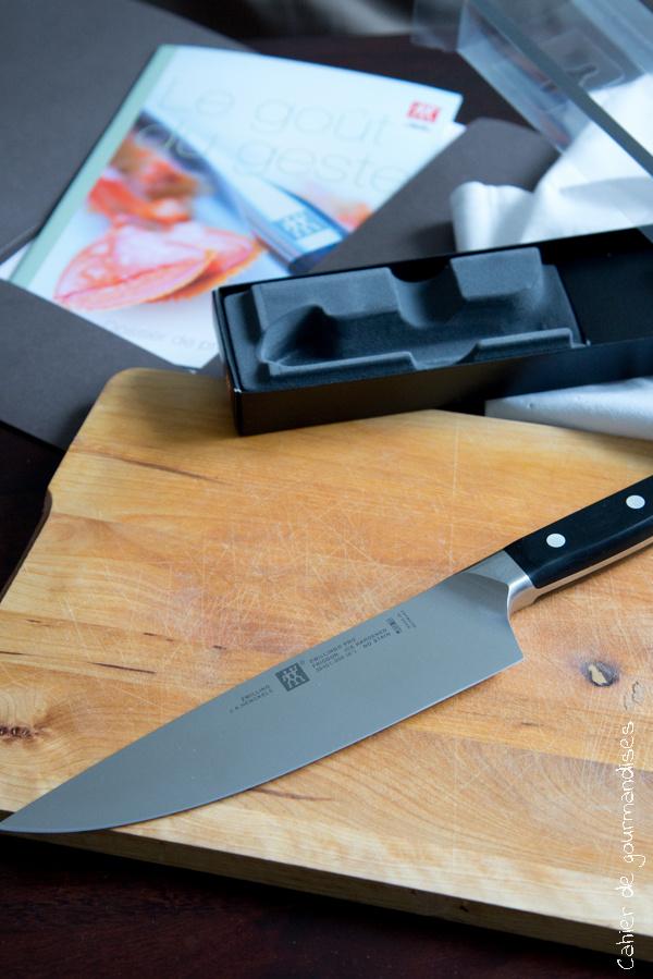 Couteau Zwiling   Cahier de gourmandises
