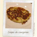 Crêpes de courgettes au fromage de chèvre & pignons