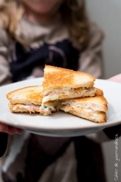 Croque saumon | Cahier de gourmandises