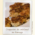 Croquettes de cabillaud au fromage