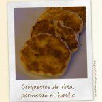 Croquettes fêta pecorino basilic