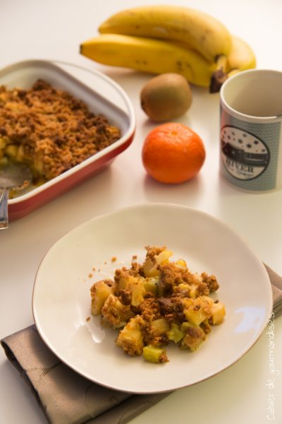Crumble pomme kiwis | Cahier de gourmandises