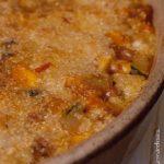 Crumble de légumes et poulet au parmesan