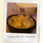 Curry de crevettes au coco