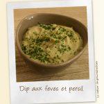 Dip aux fèves et au persil