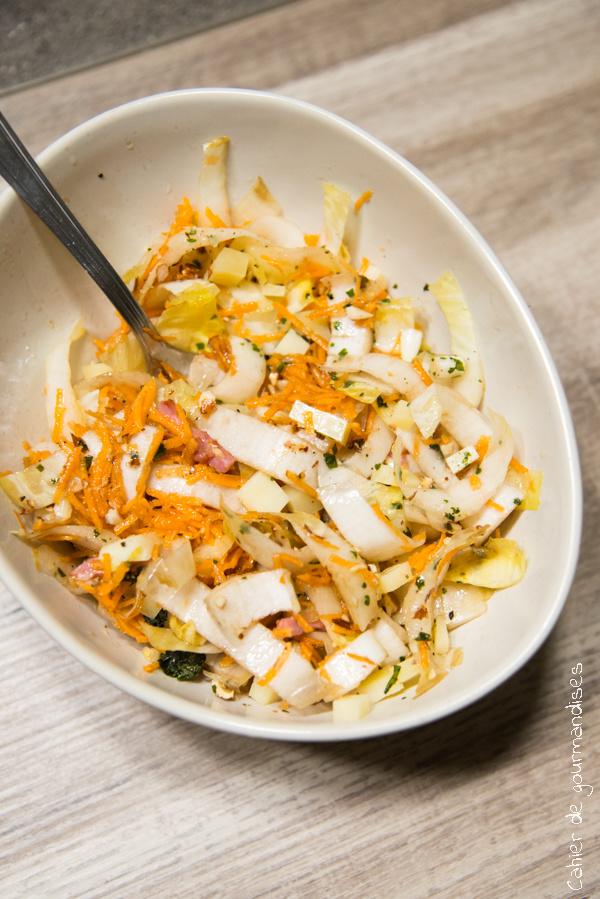 Salade d'endives carottes et beaufort | Cahier de gourmandises