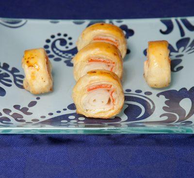 Feuilletés au surimi et fromage frais