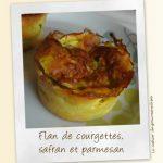 Flan de courgettes, safran et parmesan