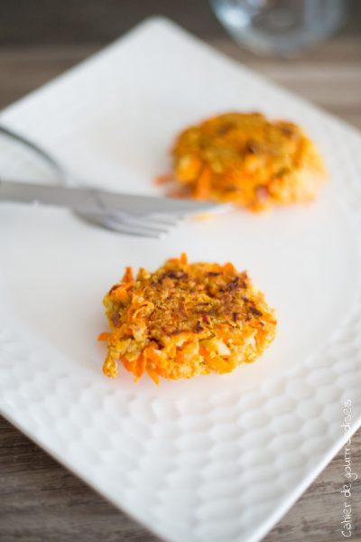 Galettes carottes chevre | Cahier de gourmandises