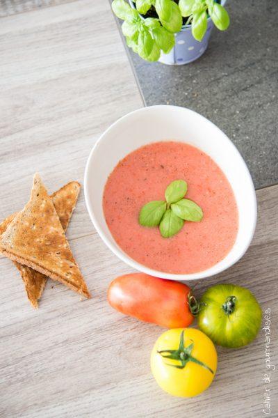 Gaspacho facile à la tomate