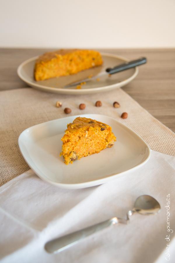 Gâteau léger aux carottes | Cahier de gourmandises