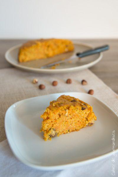 Carrot cake léger aux noisettes