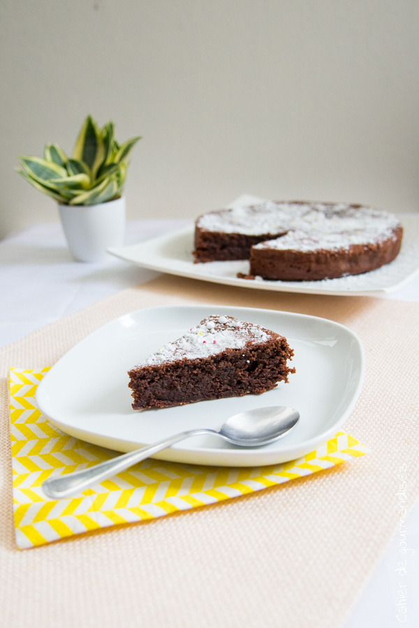 Gâteau chocolat amande huile d'olive | Cahier de gourmandises
