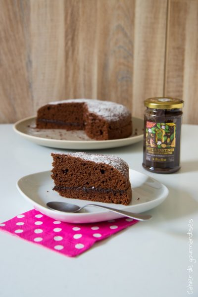 Gâteau au chocolat fourré à la pâte à tartiner