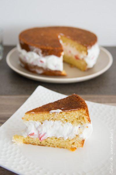 Gâteau fraises & chantilly