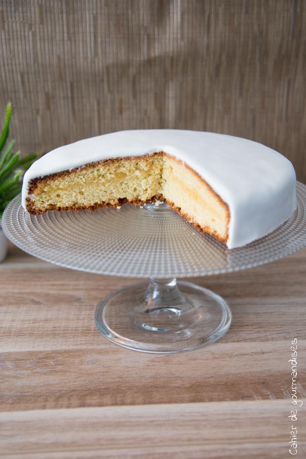 Gateau lemon curd et pâte à sucre | Cahier de gourmandises