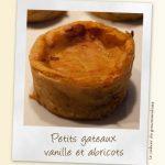 Gâteaux abricots vanille