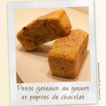 Petis gateaux au yaourt et pépites de chocolat
