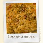 Gratin de pâtes aux 3 fromages
