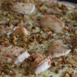 Green pizza à la courgette et aux pistaches