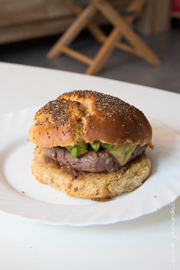 Hamburger à l'avocat   Cahier de gourmandises