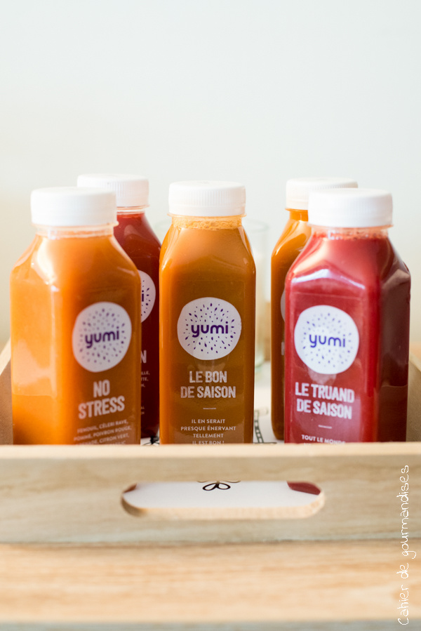 Jus légumes Yumi | Cahier de gourmandises