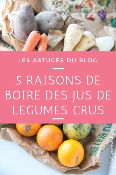 5 raisons de boire des jus de légumes crus