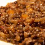Lentilles aux carottes et petits lardons
