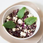 Salade de lentilles, chou rouge, feta et grenade