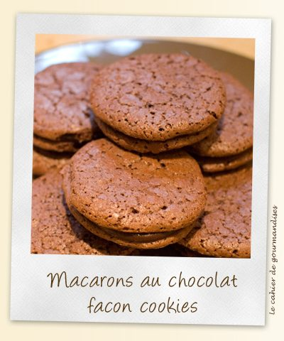Macarons forme cookie au chocolat et beurre salé