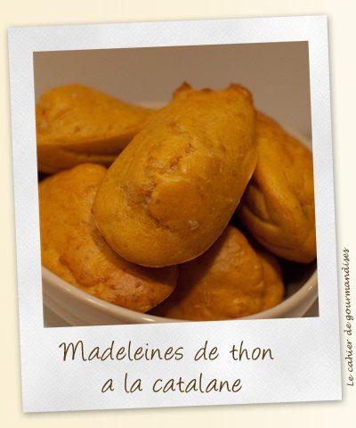 Madeleines de thon à la catalane