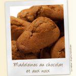 Madeleines noix chocolat