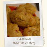 Madeleines aux crevettes et curry