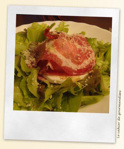 Millefeuille Coppa-Mozarella-Tomates