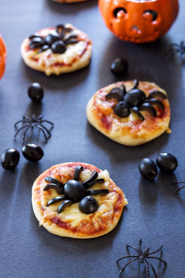 Mini-pizzas Araignées