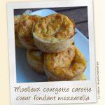 Moelleux courgette et carotte au coeur fondant à la mozzarella