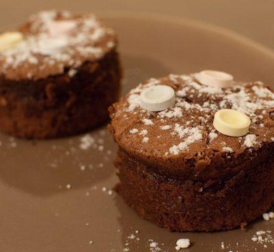Moelleux au chocolat et sucreries