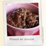 Mousse au chocolat patissier