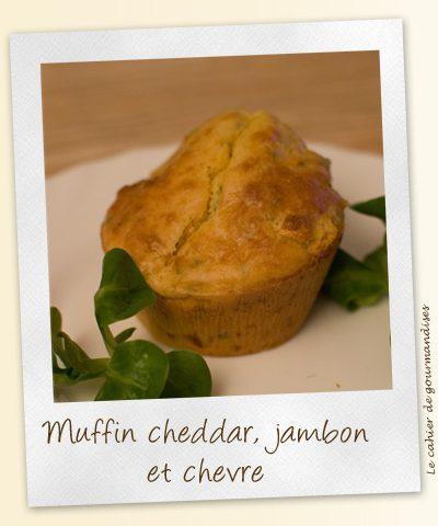 Muffins au jambon cheddar et chèvre